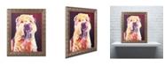 "Trademark Global DawgArt 'Bailey Boy' Ornate Framed Art - 11"" x 14"" x 0.5"""