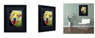 "Trademark Global DawgArt 'Spencer' Matted Framed Art - 14"" x 11"" x 0.5"""