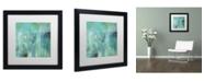 "Trademark Global Color Bakery 'Aqua Circumstance II' Matted Framed Art - 16"" x 16"" x 0.5"""