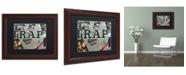 "Trademark Global Dan Monteavaro 'Trap' Matted Framed Art - 14"" x 11"" x 0.5"""