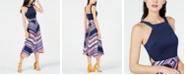 Trina Turk Arvida Striped Side-Cutout Dress
