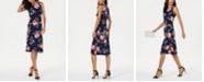 Jessica Howard Sleeveless Floral Midi Dress