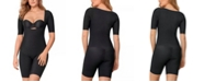 Leonisa Undetectable Open Bust Shorty Body Shaper Jumpsuit