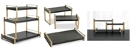 Hotel Collection Modern Black & Gold 3-Tier Serving Tower, Created for Macy's