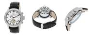 Heritor Automatic Hamilton Genuine Black Leather Watch 44mm
