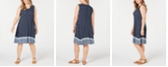 Style & Co Plus Size Sleeveless Printed Swing Dress, Created for Macy's