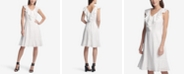 DKNY Ruffle Eyelet A-Line Dress