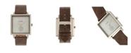 Simplify Quartz The 5000 Grey Dial, Genuine Black Leather Watch 38mm