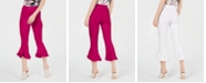 INC International Concepts I.N.C. Petite Cropped Ruffle-Hem Pants, Created for Macy's