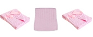 3 Stories Trading Baby Mode Signature Baby Boys and Girls All Cotton Cable Knit Blanket