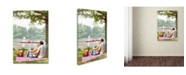 """Trademark Global The Macneil Studio 'Picnic by the River' Canvas Art - 32"""" x 22"""" x 2"""""""