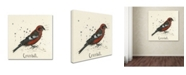 "Trademark Global Michelle Campbell 'Crossbill' Canvas Art - 24"" x 24"" x 2"""