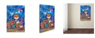 "Trademark Global Oxana Ziaka 'Garden' Canvas Art - 19"" x 12"" x 2"""