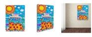 "Trademark Innovations Oxana Ziaka 'Voyage-Voyage' Canvas Art - 19"" x 14"" x 2"""