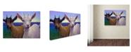 "Trademark Global James W. Johnson 'Friends' Canvas Art - 47"" x 35"" x 2"""