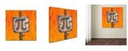 "Trademark Global Ryan Rice Fine Art 'Marshmallow Pi' Canvas Art - 24"" x 24"" x 2"""
