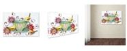 "Trademark Global The Tangled Peacock 'Afternoon Tea & Tweets' Canvas Art - 32"" x 22"" x 2"""