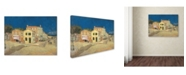 "Trademark Global Vincent van Gogh 'The Yellow House' Canvas Art - 47"" x 35"" x 2"""