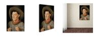 "Trademark Global Jan Van Eyck 'Man With Pinks' Canvas Art - 32"" x 22"" x 2"""