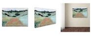 "Trademark Global Monet 'Poppy Field Near Giverny' Canvas Art - 19"" x 14"" x 2"""
