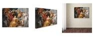 "Trademark Global Peter Paul Rubens 'The Judgement Of Solomon' Canvas Art - 19"" x 14"" x 2"""