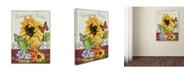 "Trademark Global Jean Plout 'Jaime mon Jardin' Canvas Art - 24"" x 18"" x 2"""
