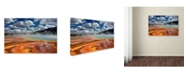 "Trademark Global Mike Jones Photo 'Prismatic Springs' Canvas Art - 47"" x 30"" x 2"""