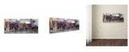 """Trademark Global Moises Levy 'Umbrellas 4' Canvas Art - 19"""" x 8"""" x 2"""""""