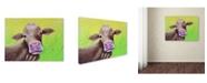 "Trademark Global Michelle Faber 'Jersey Cow' Canvas Art - 32"" x 24"" x 2"""