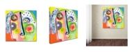 "Trademark Global Wyanne 'Think Too Much' Canvas Art - 14"" x 14"" x 2"""