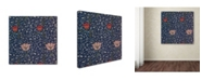 "Trademark Global Vintage Lavoie 'Flowers' Canvas Art - 14"" x 14"" x 2"""