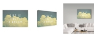 """Trademark Global Vintage Skies 'Life Is But A Dream' Canvas Art - 47"""" x 30"""" x 2"""""""