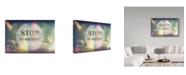 "Trademark Global Vintage Skies 'Stop At Nothing' Canvas Art - 24"" x 16"" x 2"""