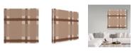 "Trademark Global Sher Sester 'Brown Stripe Plaid' Canvas Art - 18"" x 18"" x 2"""