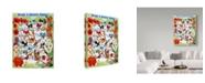 """Trademark Global Sher Sester 'Bird Music Floral' Canvas Art - 19"""" x 14"""" x 2"""""""