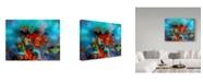 "Trademark Global RUNA 'Coral Reef Red' Canvas Art - 47"" x 35"" x 2"""