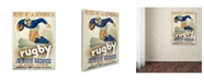 """Trademark Global Vintage Apple Collection 'Rugby' Canvas Art - 22"""" x 32"""" x 2"""""""