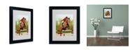 "Trademark Global Michelle Moate 'Horse of Sport III' Matted Framed Art - 14"" x 11"" x 0.5"""