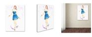 "Trademark Global Jennifer Lilya 'Squeal For Teal' Canvas Art - 18"" x 24"" x 2"""