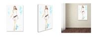 """Trademark Global Jennifer Lilya 'White a Sight' Canvas Art - 22"""" x 32"""" x 2"""""""