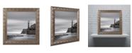 """Trademark Global Moises Levy 'Morro Lighthouse' Ornate Framed Art - 16"""" x 16"""" x 0.5"""""""