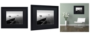 """Trademark Global Moises Levy 'Herons and 3 Boats' Matted Framed Art - 16"""" x 20"""" x 0.5"""""""