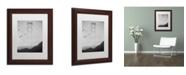 "Trademark Global Moises Levy 'Golden Gate Pier and Birds I' Matted Framed Art - 14"" x 11"" x 0.5"""