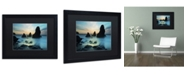 "Trademark Global Moises Levy 'Rodeo Beach I' Matted Framed Art - 16"" x 20"" x 0.5"""