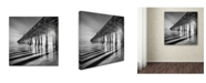"""Trademark Global Moises Levy 'Pier and Shadows' Canvas Art - 18"""" x 18"""" x 2"""""""