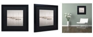 """Trademark Global Moises Levy 'Three Boats' Matted Framed Art - 16"""" x 16"""" x 0.5"""""""