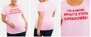 Motherhood Maternity Plus Size I'm A Mom. What's Your Superpower™ Maternity Plus Size Graphic Tee