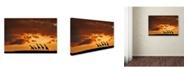 """Trademark Global Muriel Vekemans 'Five Giraffes' Canvas Art - 24"""" x 16"""" x 2"""""""