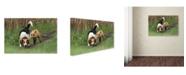 "Trademark Global Mircea Costina 'World's Worst Hunting Dog' Canvas Art - 24"" x 16"" x 2"""