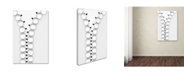 "Trademark Global Wieteke de Kogel 'Zipper' Canvas Art - 19"" x 12"" x 2"""